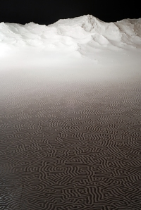 LABYRINTH Installation - Jan - Feb, 2011. Salt. 3.2 x 11m. (C) Motoi Yamamoto | motoi.biz