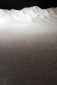 LABYRINTH Installation - Jan - Feb, 2011. Salt. 3.2 x 11m. (C) Motoi Yamamoto | motoi.biz
